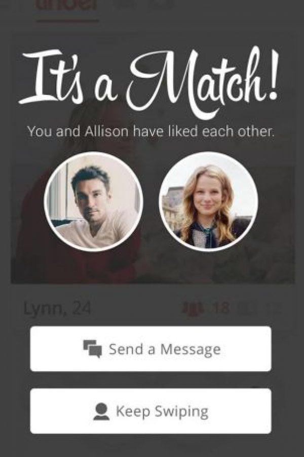 Así es como se ve un match sin la insignia Foto:Tinder