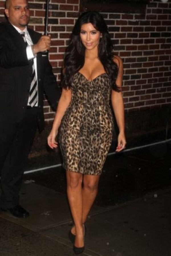 Animal print de Kim, con lo obvio. Foto: vía Getty Images