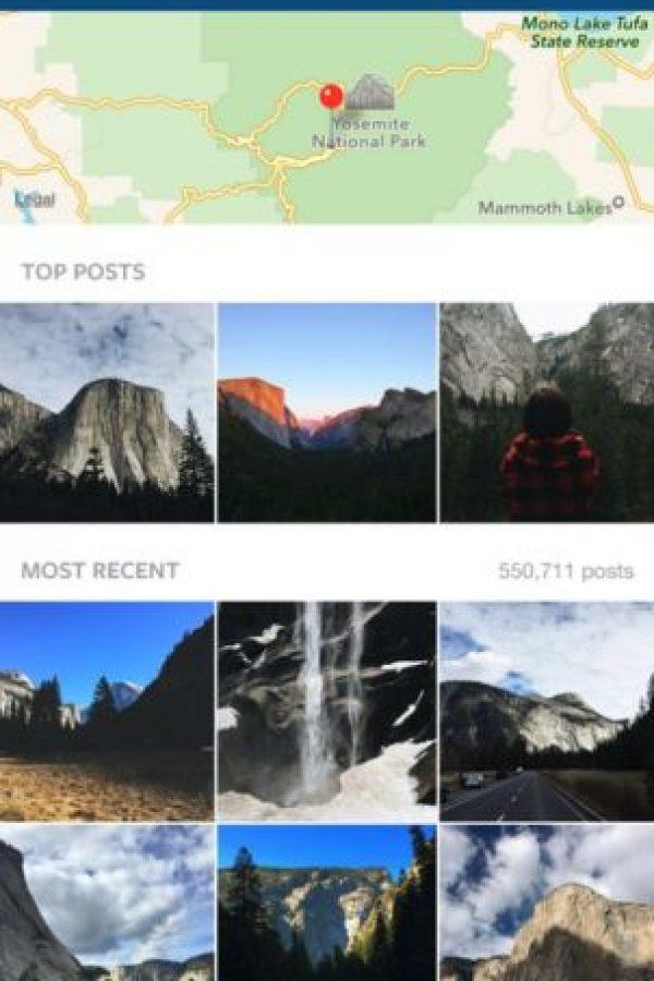 Búsquedas de lugares con mapa, mejores resultados y más recientes Foto:Instagram