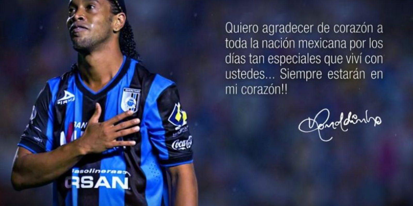 6. Ronaldinho Foto:Vía twitter.com/10ronaldinho