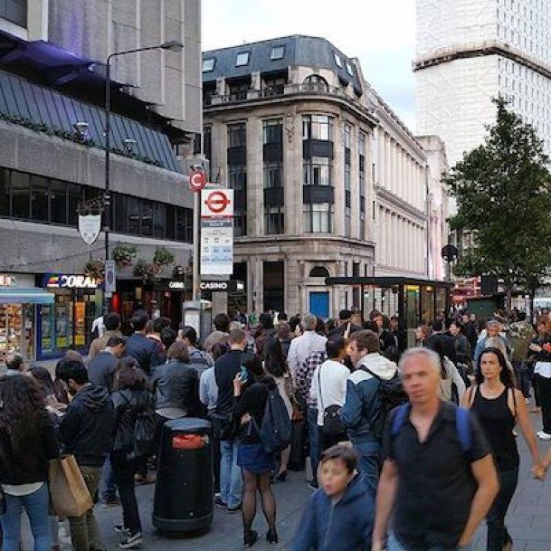 Aquí la estación Tottenham Court Road Foto:Instagram.com/giovannibausani