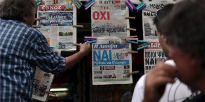 """""""Fue una muestra de valentía y de audacia de Tsipras. Él no ha engañado a nadie, desde el principio dio a conocer cuál iba a ser su posición. Finalmente una Troika absolutamente inflexible lo obligó a este referéndum"""", comentó Eduardo Rosales. Foto:AFP"""