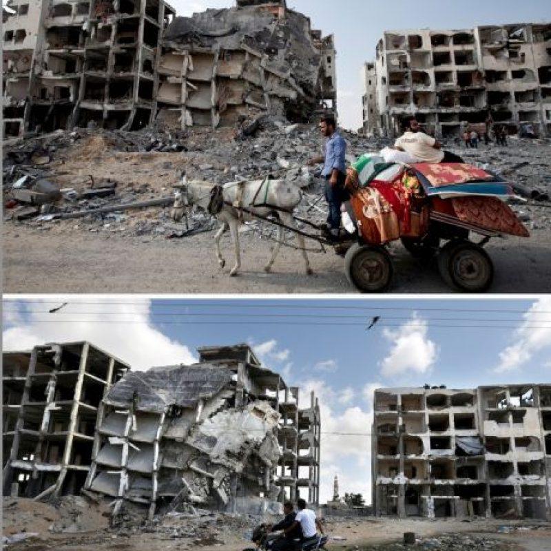 Fotografías tomadas en el norte de la Franja de Gaza Foto:AFP