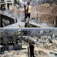 Imagen tomada en el barrio de al-Tufah Foto:AFP