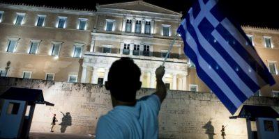 Campaña de solidaridad con Grecia Foto:AFP