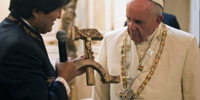 Y se reunió con Evo Morales, presidente del país Foto:AP