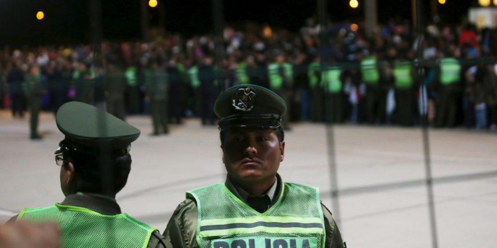 Anoche, durante su llegada al país Foto:Getty Images