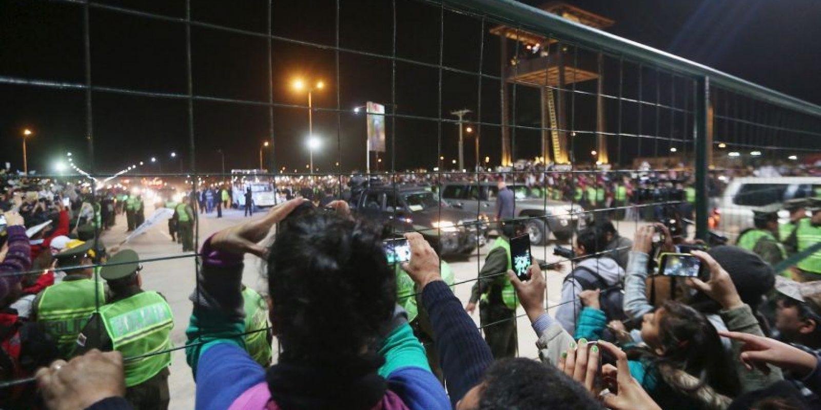 Miles de personas lo esperaban para darle una cálida bienvenida Foto:Getty Images
