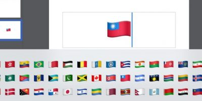 La bandera de Taiwán estará disponible en iOS 9. Foto:Twitter
