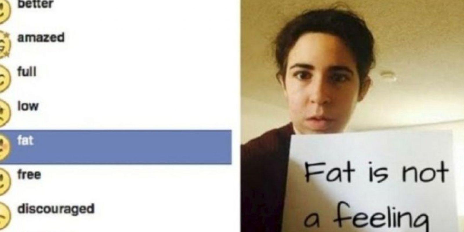 """Facebook tuvo que retirar el emoji que expresaba """"me siento gordo"""" por múltiples reclamos por discriminación y falta de respeto. Foto:change.org"""