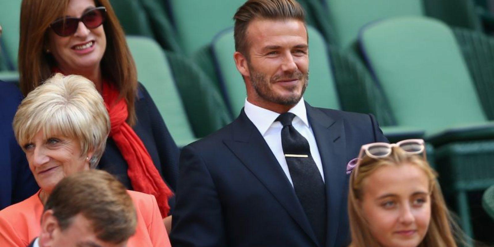 David Beckham es una de las celebridades que año con año se dan cita en el All England Club de Londres para disfrutar del torneo de Wimbledon. Foto:Getty Images