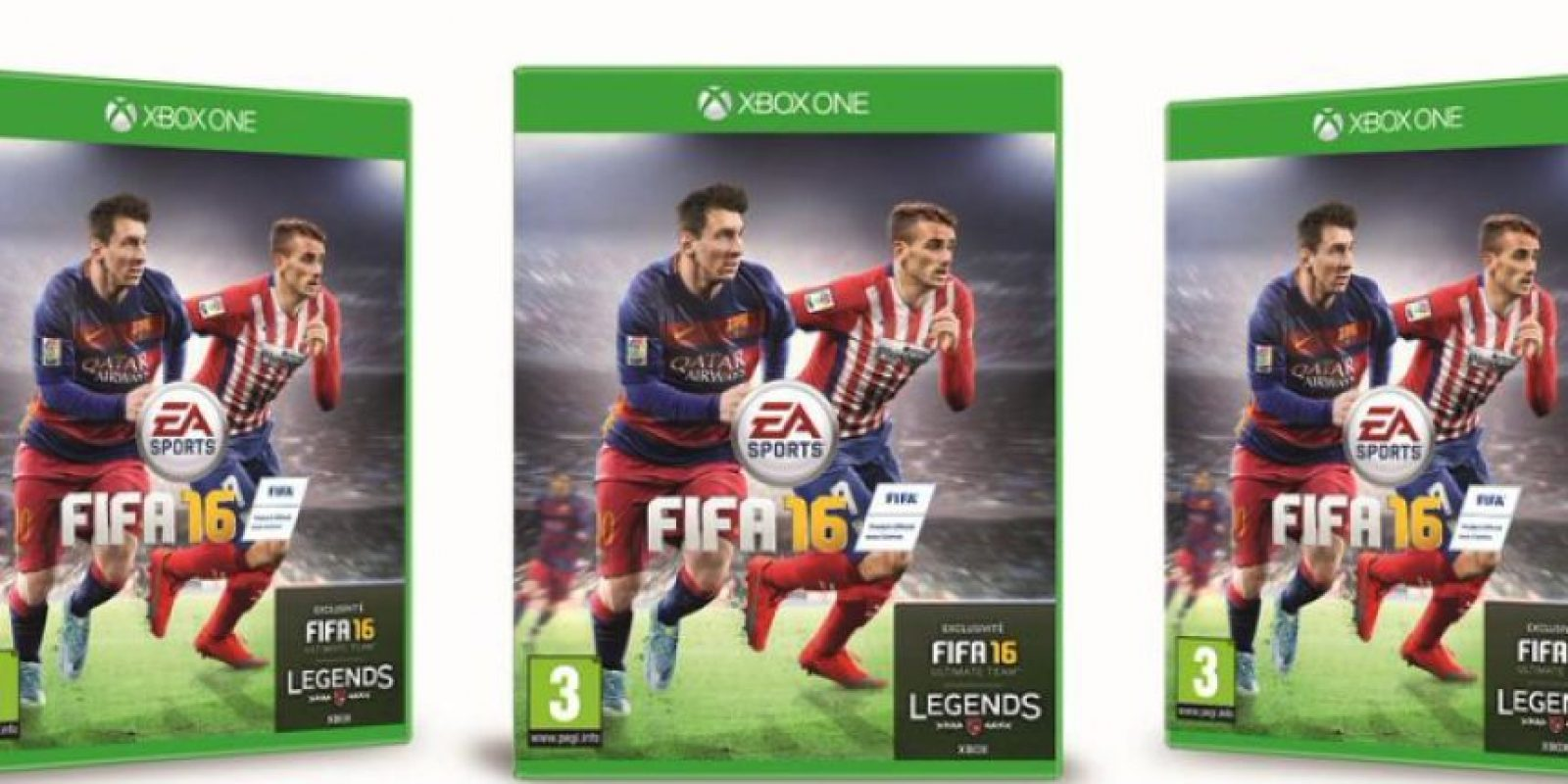 Antoine Griezmann ganó las votaciones para la portada oficial del juego en Francia Foto:twitter.com/Atleticoaldia
