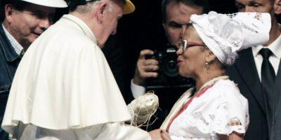 Además, pidió perdón en nombre de la Iglesia Católica por las atrocidades de la Conquista. Foto:AFP