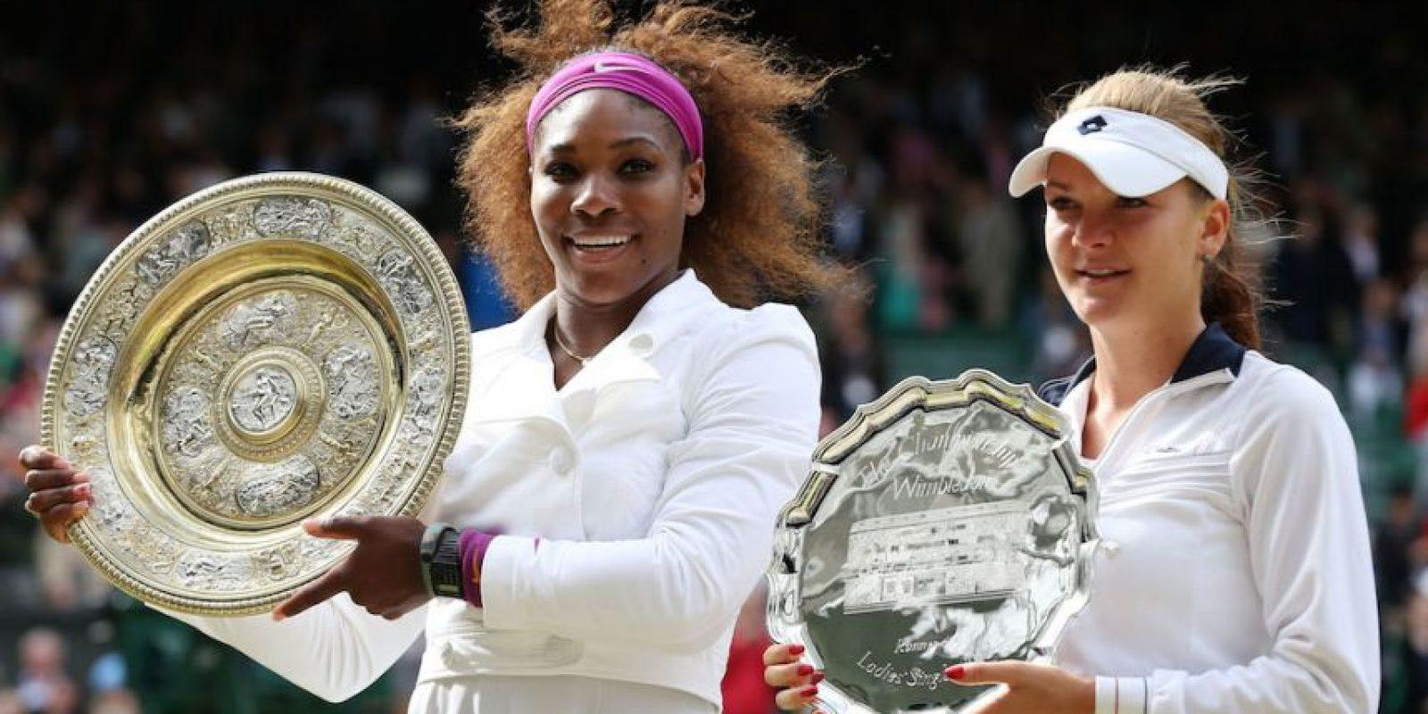 Serena venció en tres sets a la polaca Agnieszka Radwańska. Foto:Getty Images