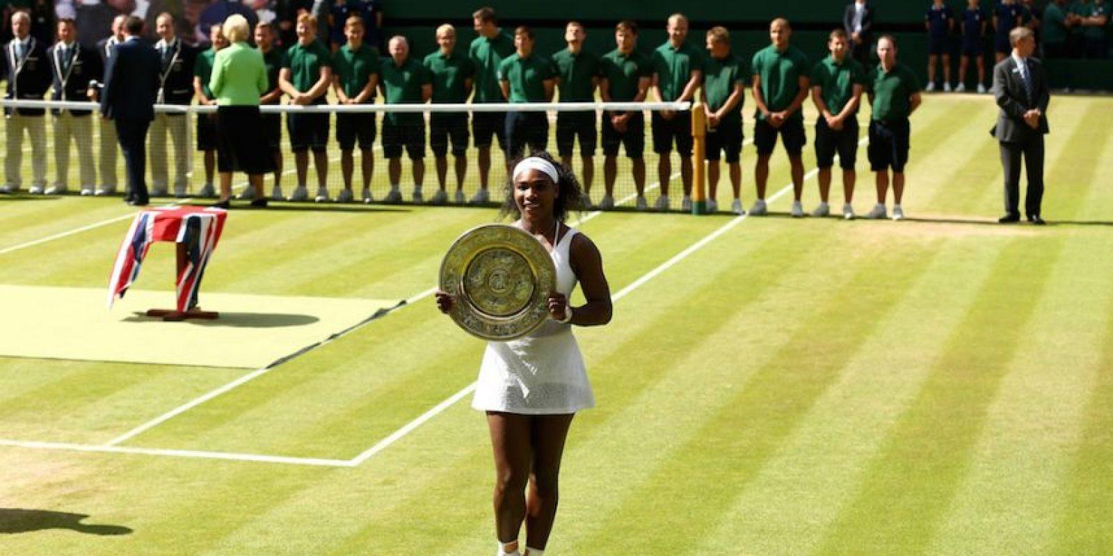 Fue su sexto título en Wimbledon. Foto:Getty Images