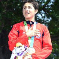 Barbara Riveros de Chile ganó oro en el Triatlón femenino. Foto:Getty Images
