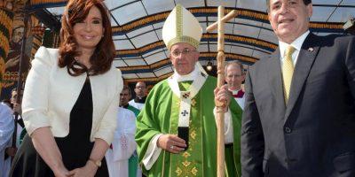 A la misa de Francisco, acudió la presidenta de Argentina, Cristina Fernández de Kirchner Foto:AFP
