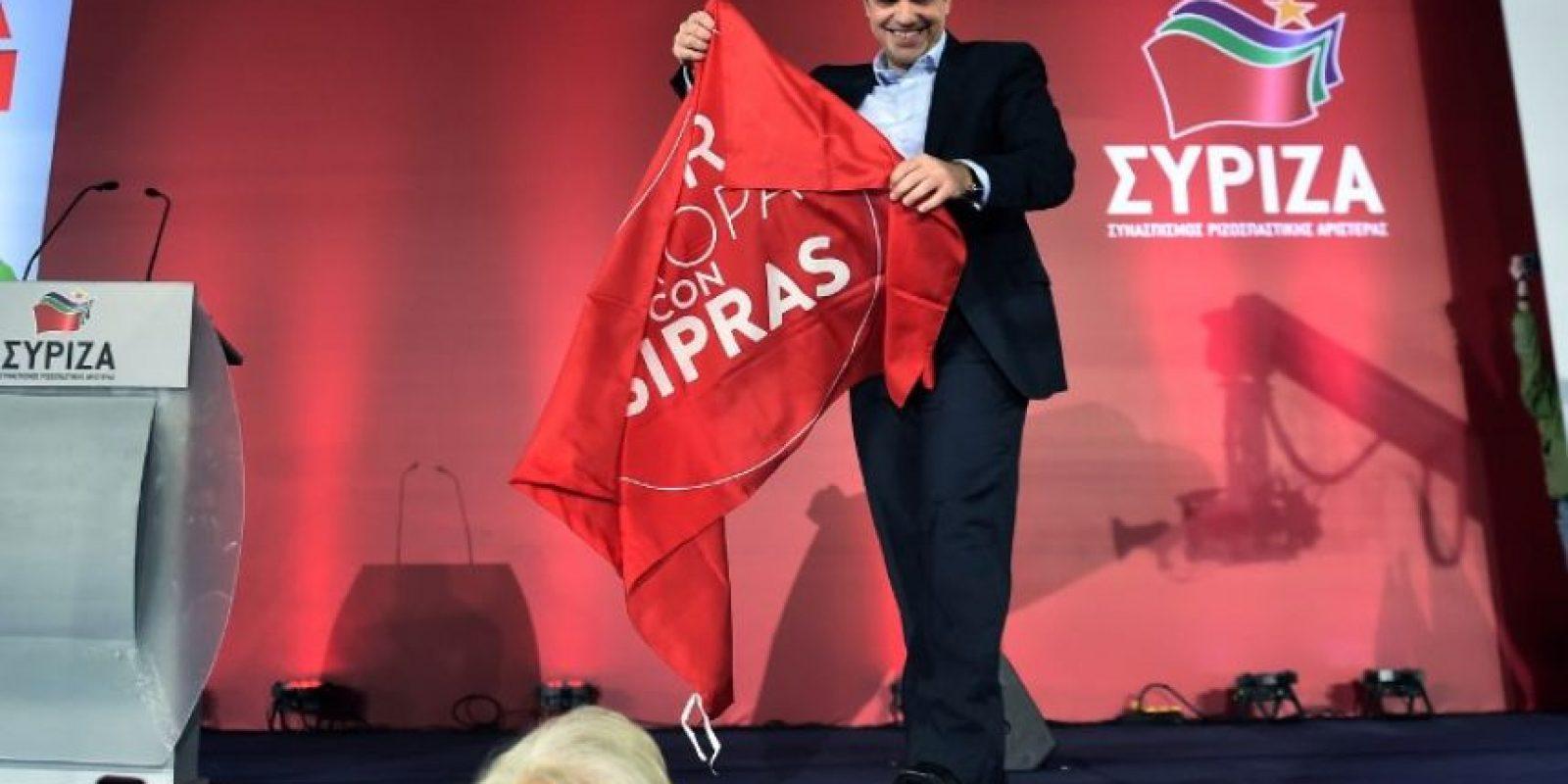 26 de enero de 2015. Alexis Tsipras celebra su triunfo Foto:AFP