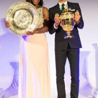 Y también posaron con sus trofeos. Foto:Getty Images