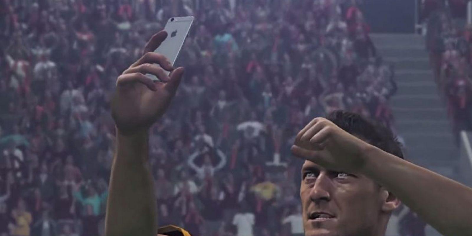 Francesco Totti en el PES 2016. Foto:Twitter