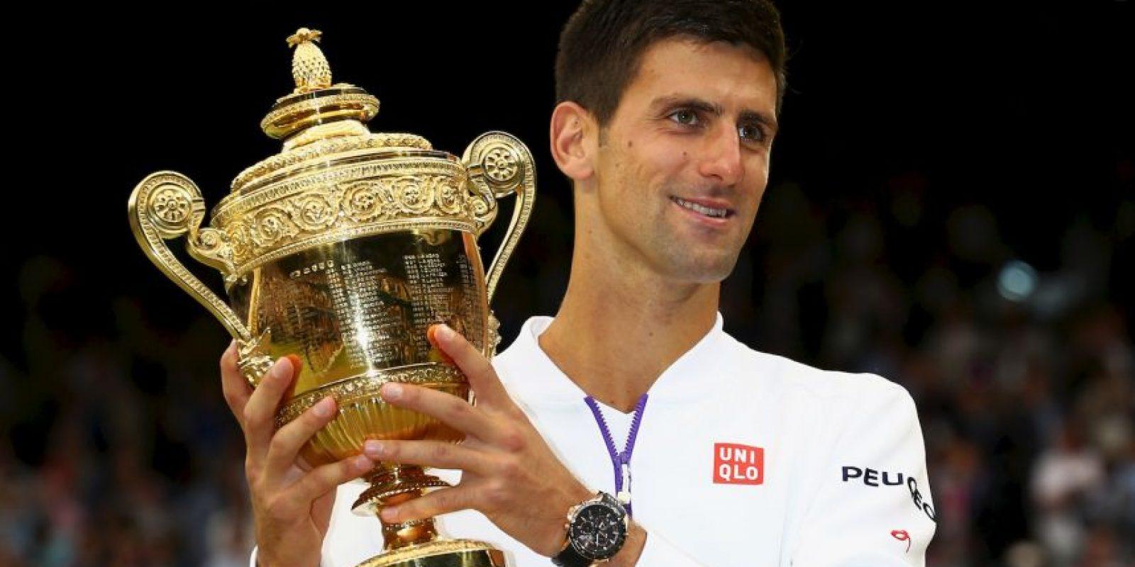 El triunfo fue para el serbio en cuatro sets. Foto:Getty Images