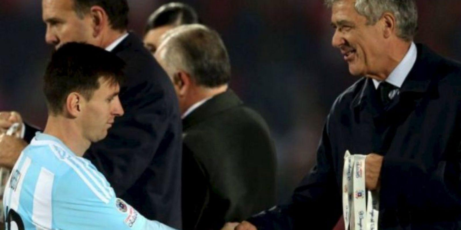 Ya había sido subcampeón en la Copa América de 2007 y el Mundial de 2014 Foto:AFP