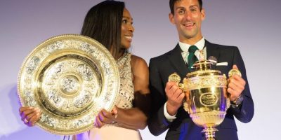 "Serena Williams y Novak Djokovic se enfrentaron en ""duelo de baile"""
