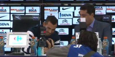 """""""Es el día más feliz de mi vida"""", indicó en su presentación Foto:Club Atlético Boca Juniors"""