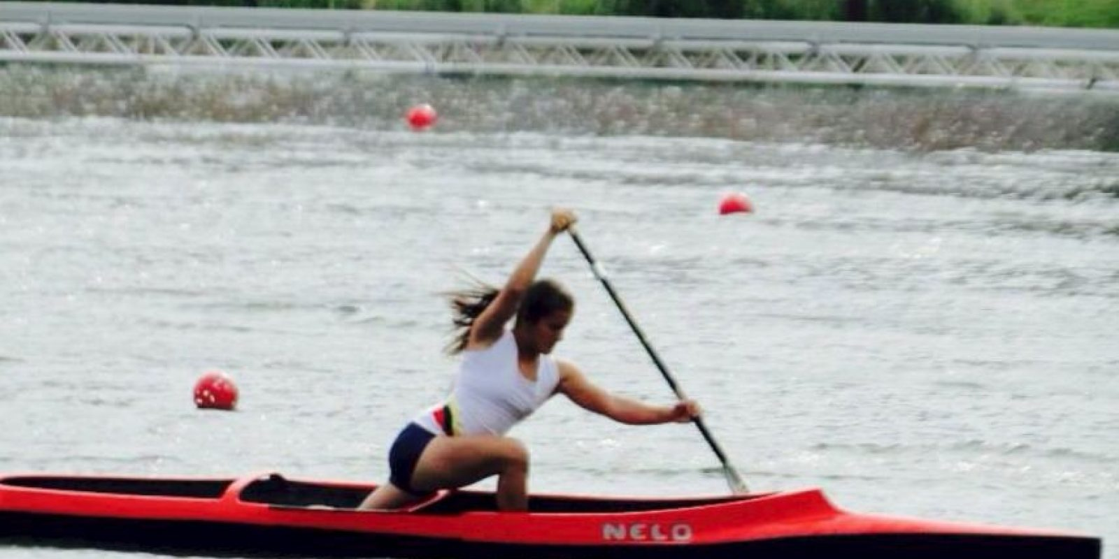 La ecuatoriana se llevó a casa la presea de plata en canotaje de 200 metros Foto:Vía facebook.com/anggie.avegno