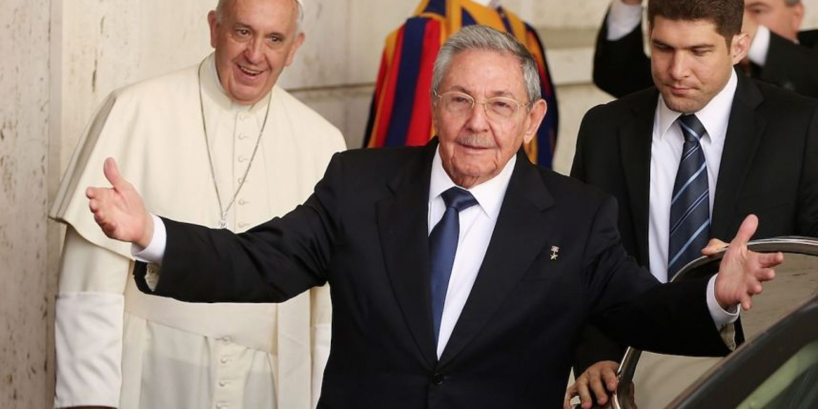Raúl Castro y el Papa Francisco Foto: Getty Images