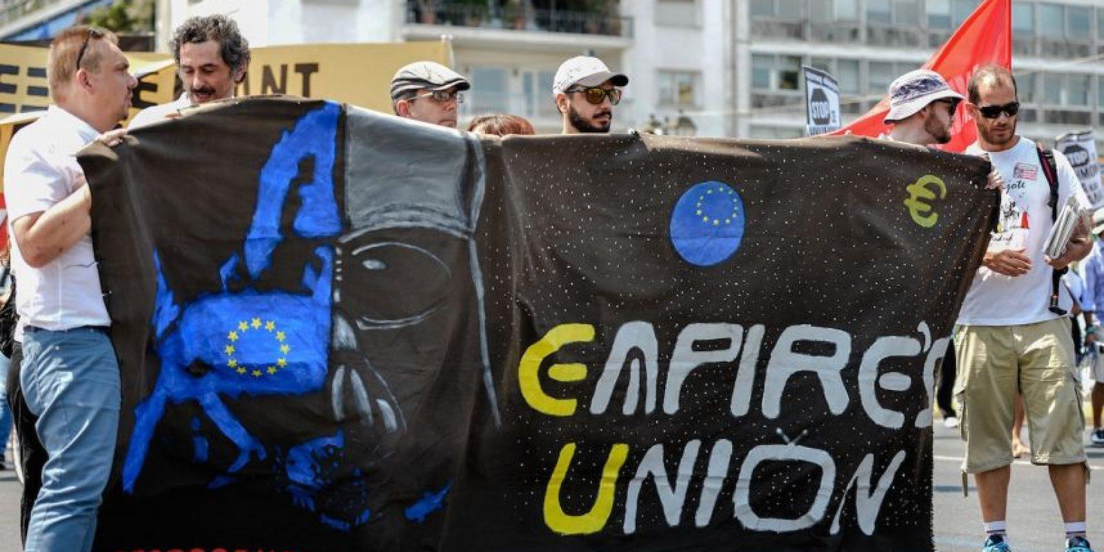Imágenes de las manifestaciones Foto:AFP