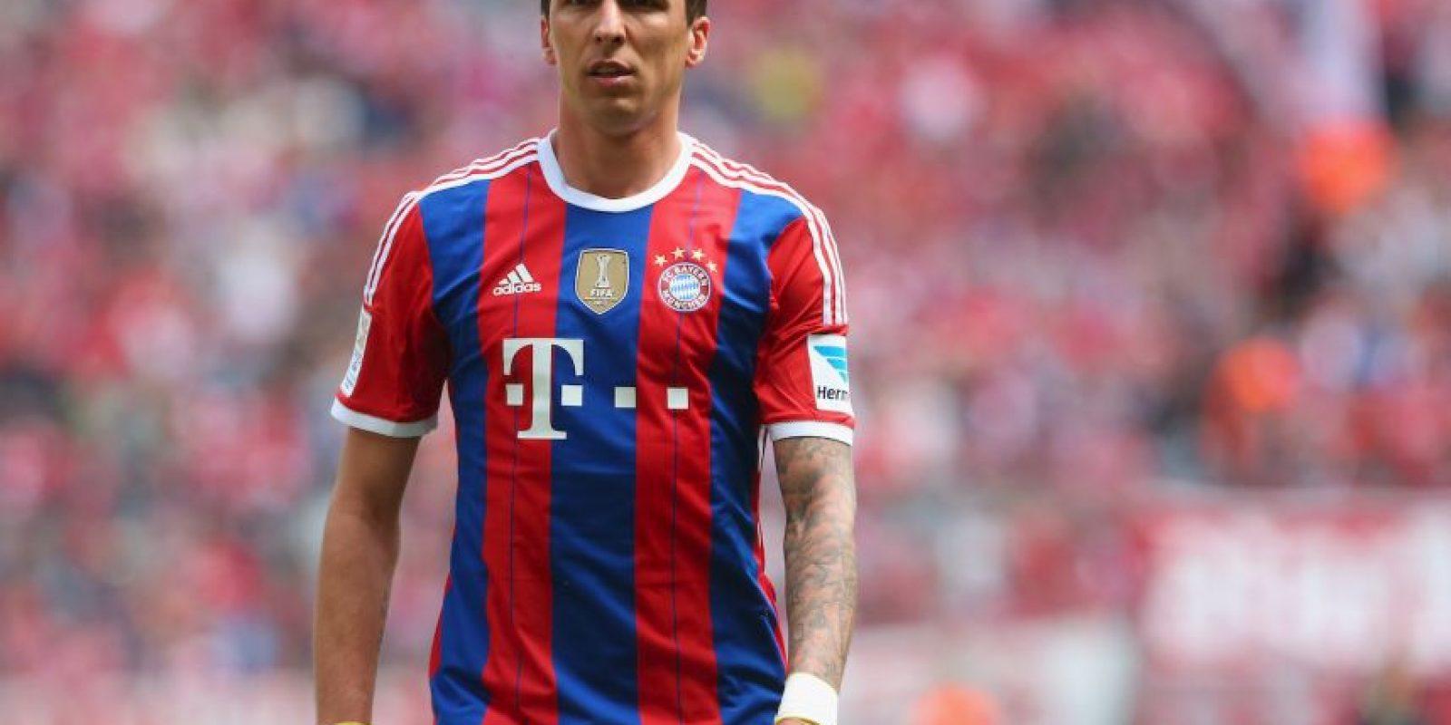 En 2014, fue el croata Mario Mandzukic (9) quien salió del equipo. Foto:Getty Images