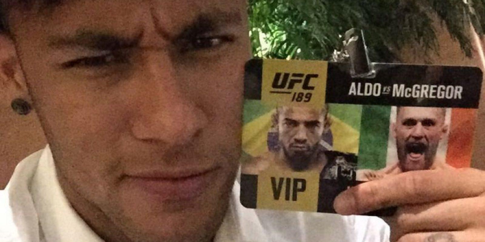 También disfrutó un espectáculo de la UFC. Foto:Vía instagram.com/neymarjr