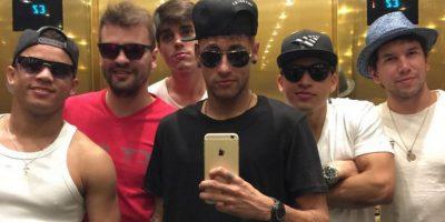 Neymar y sus amigos, en Las Vegas. Foto:Vía instagram.com/neymarjr