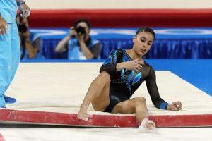 Una caída en las barras asimétricas le costó salir del podio del All Around Foto:Getty Images