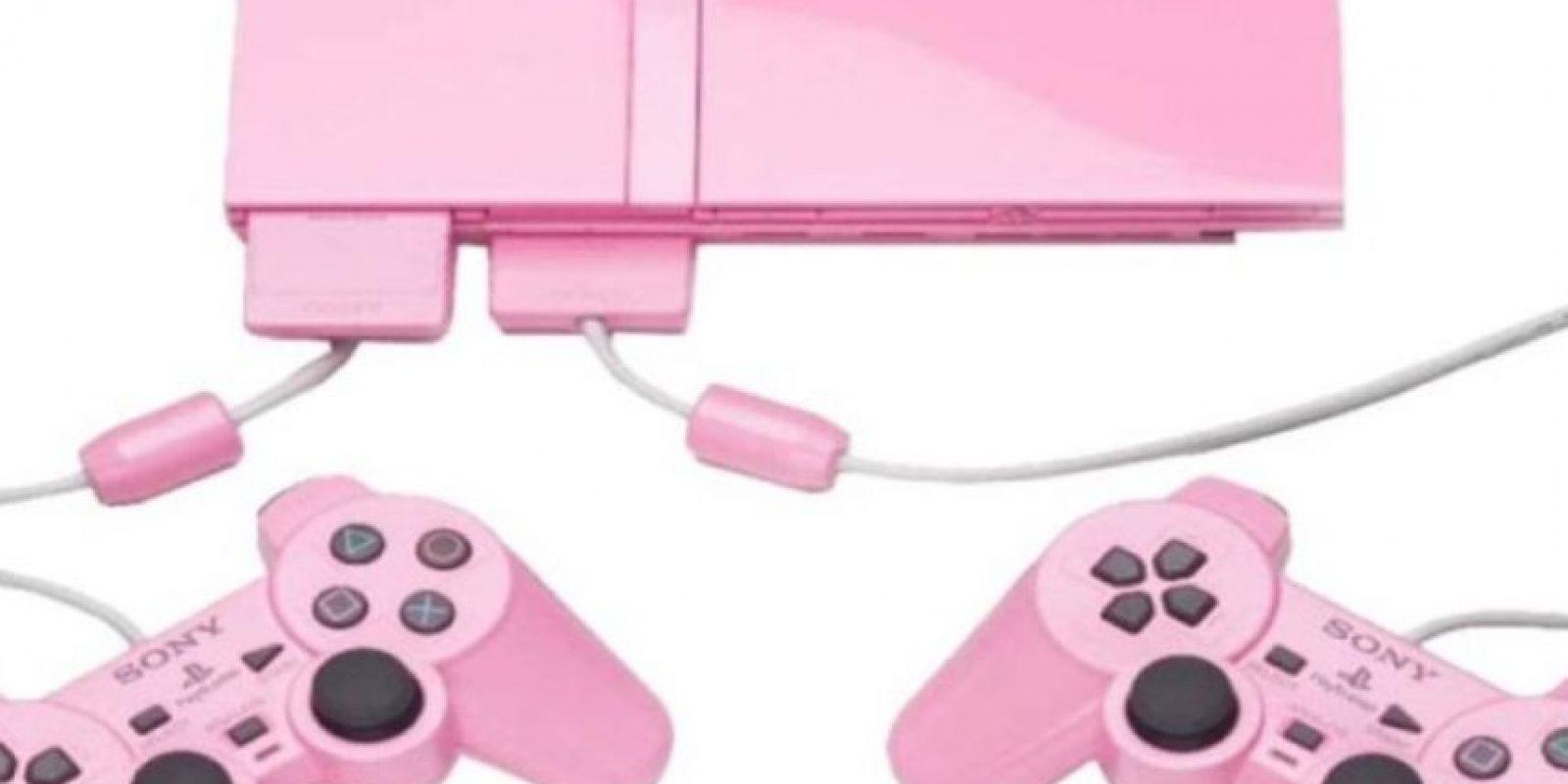 PlayStation 2 Slim color rosa. Foto:Sony