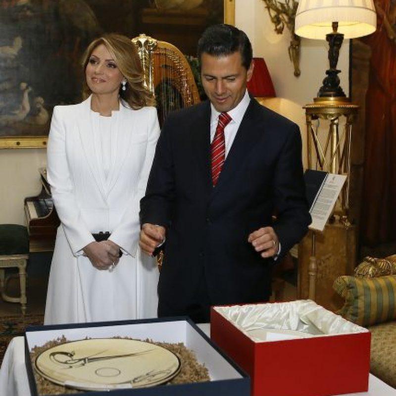 Se casaron en una catedral del estado de Toluca, México. Foto:Getty Images