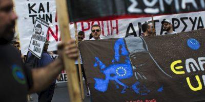 Hace 11 días, los griegos asistían a las urnas para demostrar que estaban en contra de las medidas del Eurogrupo. Foto:AFP