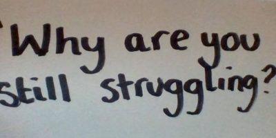 """""""¿Por qué estás todavía luchando?"""" Foto:vía Project Unbreakable.org"""