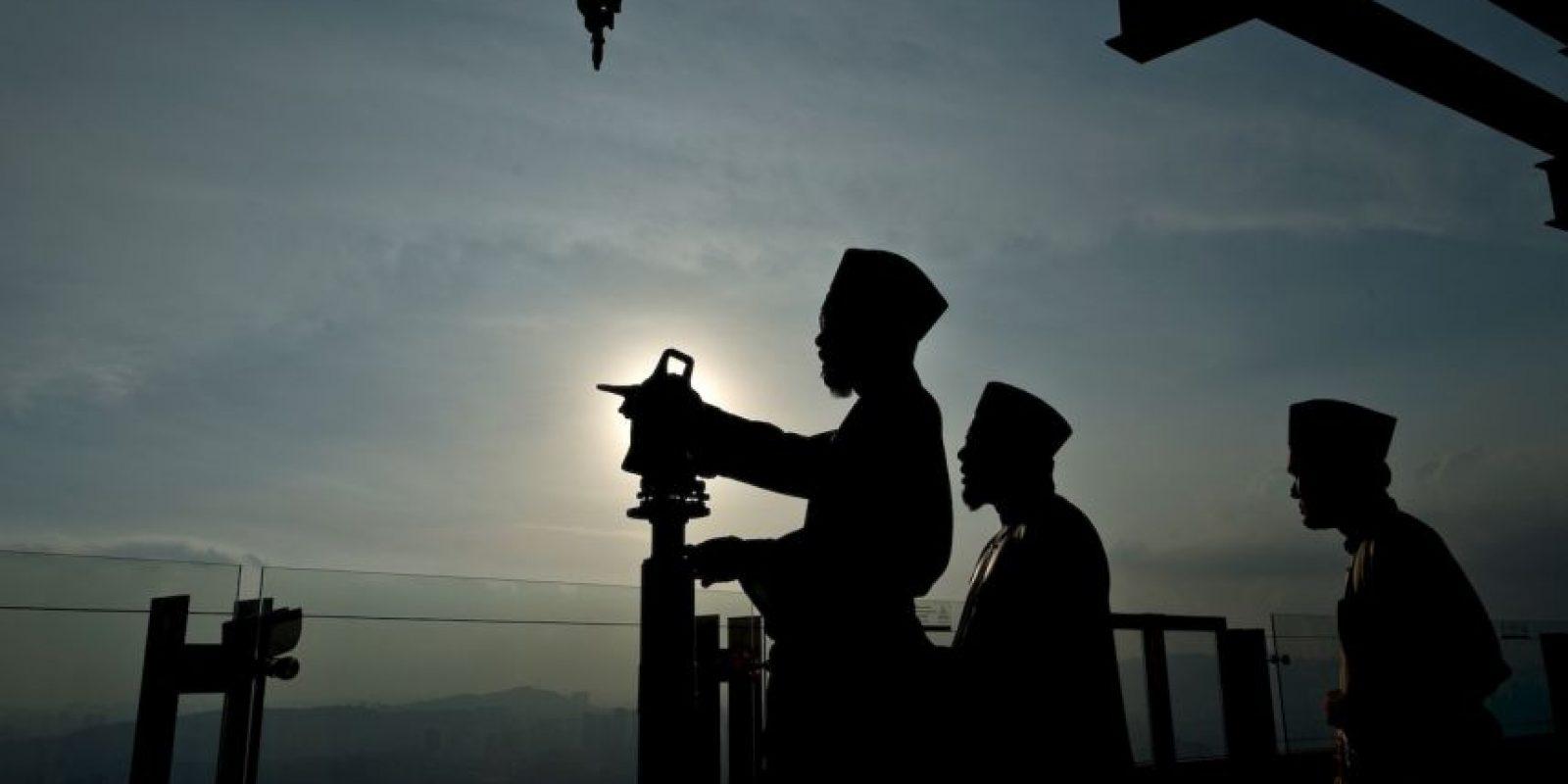 Malasia durante sus actividades conmemorativas al Ramadán. Foto:AFP