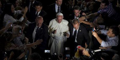 El Papa Francisco durante su gira por Paraguay. Foto:AFP