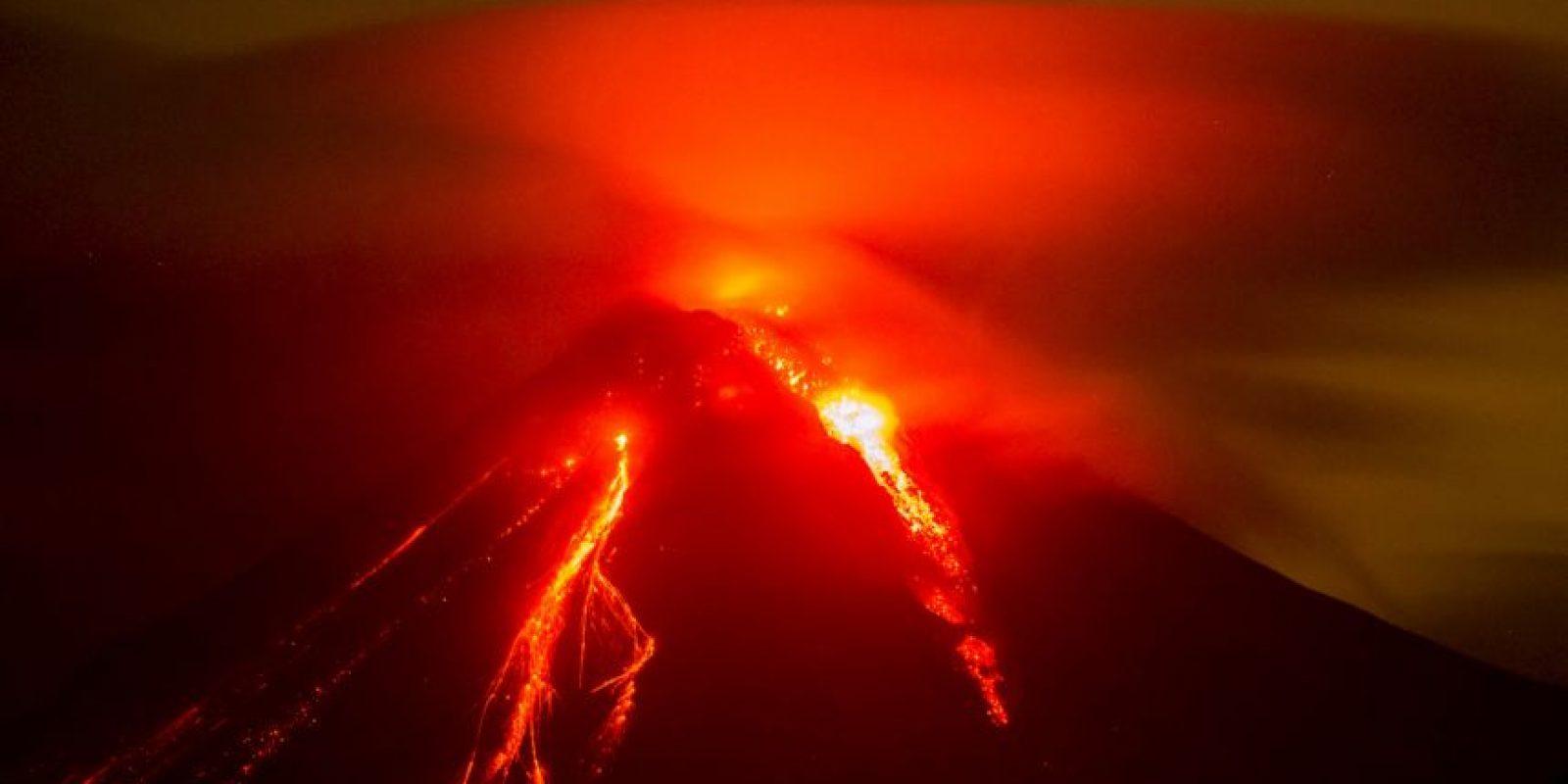 Erupción de volcán Colima en México. Foto:AFP