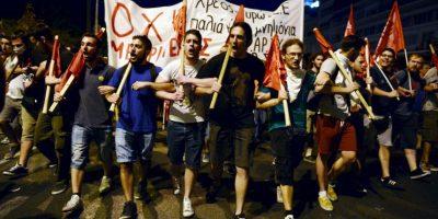 Manifestaciones en Grecia contra el plan de austeridad. Foto:AFP
