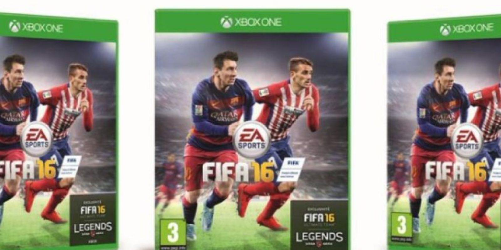 Antoine Griezmann ganó las votaciones para la portada oficial del juego en Francia.. Foto:twitter.com/Atleticoaldia