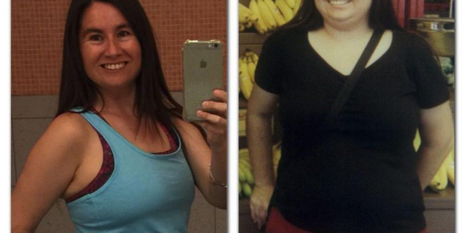 Desde que comenzó, Swidecki logró bajar 34 kilos y redujo su cuerpo 10 tallas, por lo que se ha convertido en un ejemplo a seguir para la gente obesa Foto:facebook.com/pages/Carrie-Swidecki/