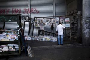 Este cierre fue impuesto por Alexis Tsipras, primer ministro, el 28 de junio Foto:AFP