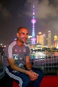 Pep Guardiola está en China con el Bayern Munich. Foto:Getty Images