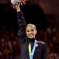 Laura Zeng (Estados Unidos), campeona en de gimnasia rítmica en cinta y mazas. Foto:Getty Images