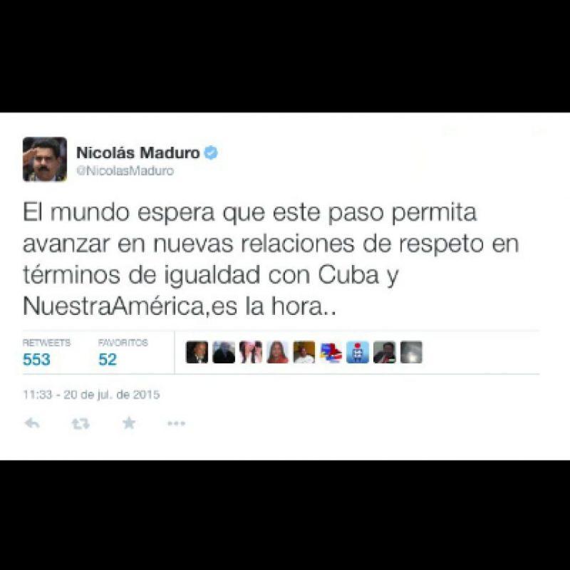 Nicolas Maduro, presidente de Venezuela Foto:Twitter.com/NicolasMaduro