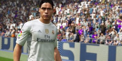 Raphaël Varane en el FIFA 16. Foto:EA Sports